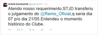 André Cavalcante Twitter (Foto: Reprodução/Twitter)