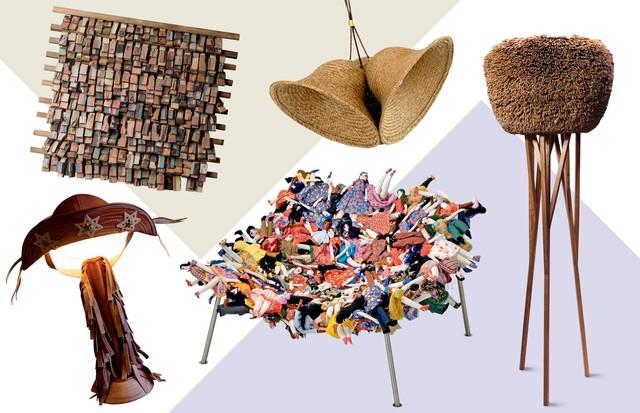Móveis e objetos de decoração inspirados na cultura popular brasileira (Foto: Divulgação)