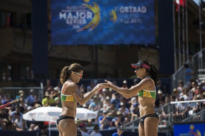 Larissa e Talita Major Series de Gstaad vôlei de praia (Foto: Divulgação / FIVB)