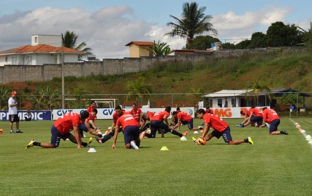 Seleção chilena treina em Belo Horizonte (Foto: Divulgação / Cruzeiro)