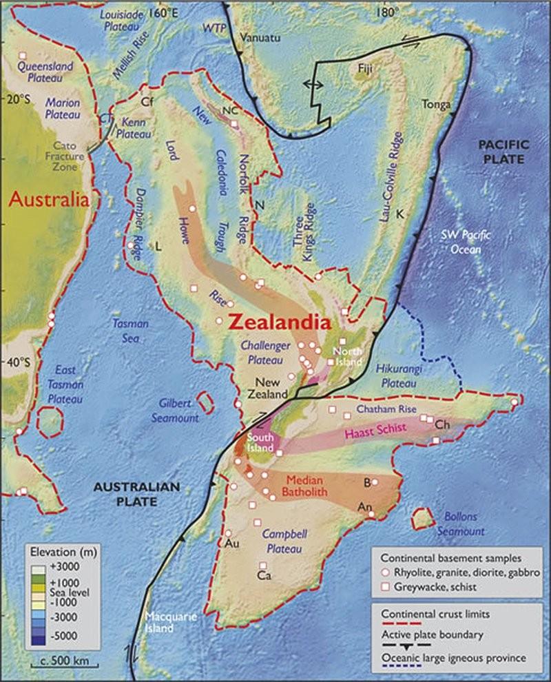 zelandia2 Los Geólogos dicen que la Tierra tiene un nuevo continente