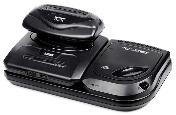 Mega Drive com todos os seus adicionais (Foto: Reprodução/RetroGamer)