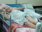 Com perna quebrada, idosa aguarda cirurgia há 25 dias em hospital do DF