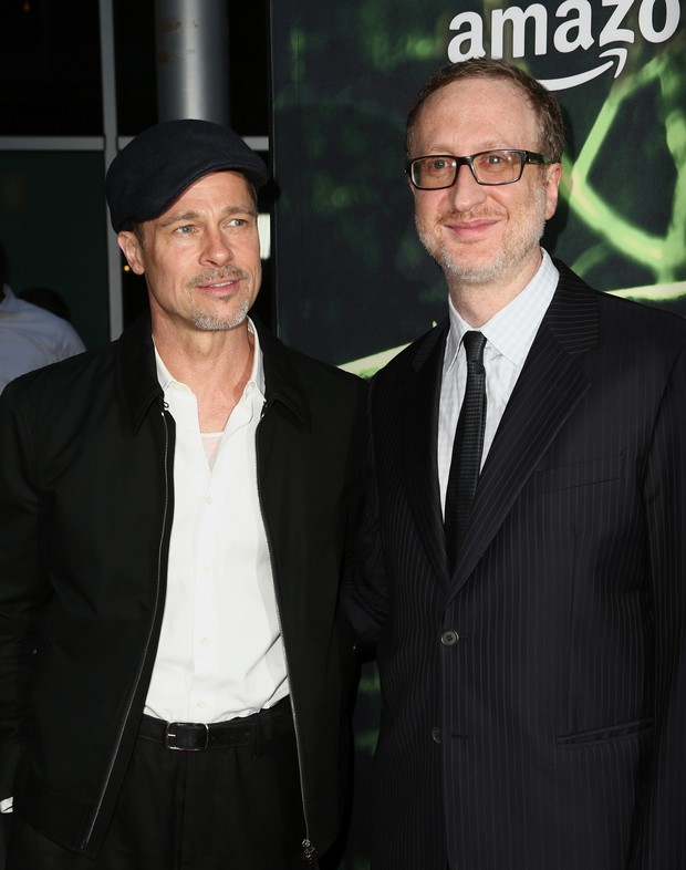 Brad Pitt e o diretor James Gray em première de filme em Los Angeles, nos Estados Unidos (Foto: Rich Fury/ Getty Images/ AFP)