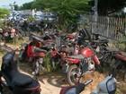 Homem é preso quando roubava oitava moto de complexo policial