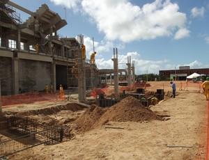Setor Oeste da Arena das Dunas, em Natal, está em fase final de conclusão (Foto: Jocaff Souza)