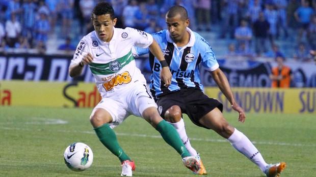 Rafinha Coritiba e Julio Cesar do Grêmio (Foto: Renan Olaz / Futura Press)