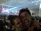 Paolla Oliveira e Joaquim Lopes curtem show de David Guetta no Rio