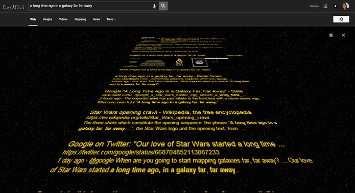 Easter egg de Star Wars aparece na busca do Google (Foto: Reprodução/Isabela Giantomaso)
