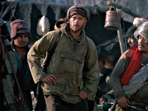 Brad Pitt em cena de 'Sete anos no Tibet' (1997) (Foto: Divulgação)