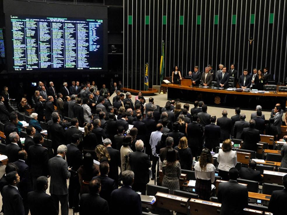 O plenário da Câmara dos Deputados, durante análise da MP do ensino médio (Foto: Luis Macedo/Câmara dos Deputados)