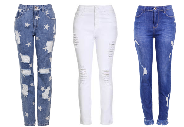 Calca Jeans Alta E Destroyed E O Must Have Do Fast Fashion on Letter Q Queen