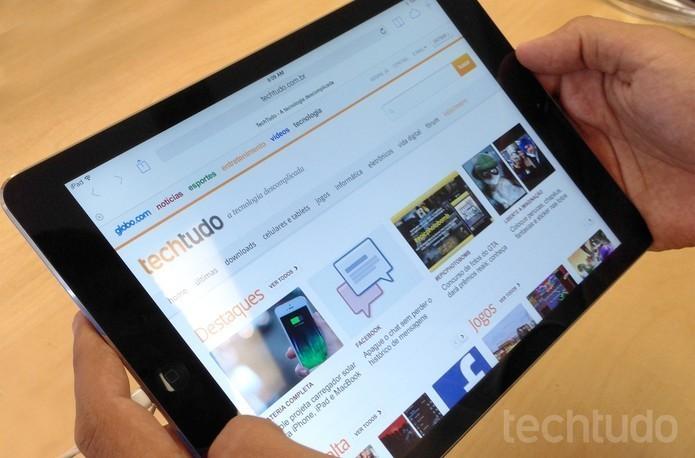 iPad Air foi lançado no ano passado, e agora ganhará sucessor (Foto: Thiago Barros/TechTudo)