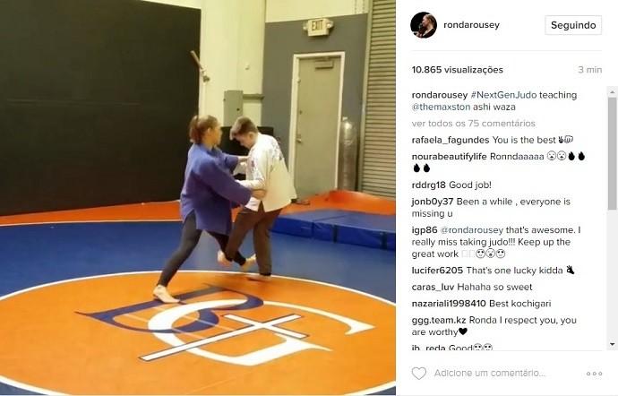 BLOG: Ronda Rousey dá aula de judô para filho de treinador de wrestling