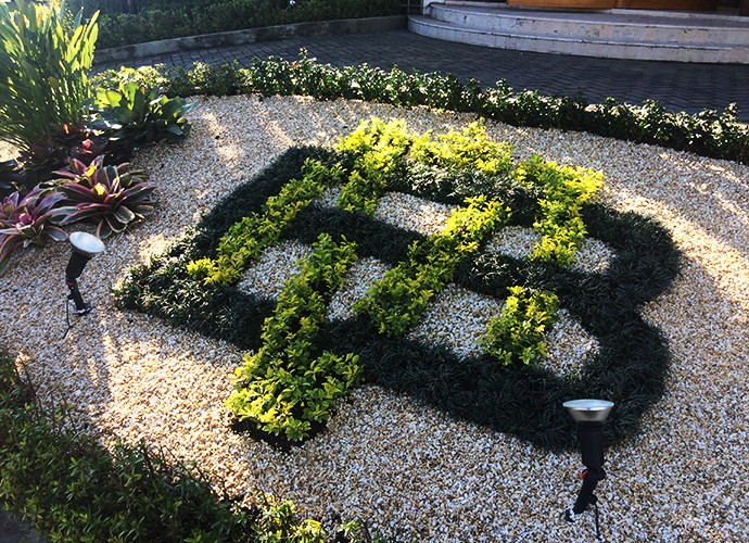 O jardim de Mister Brau (Foto: Luciane Nicolino)