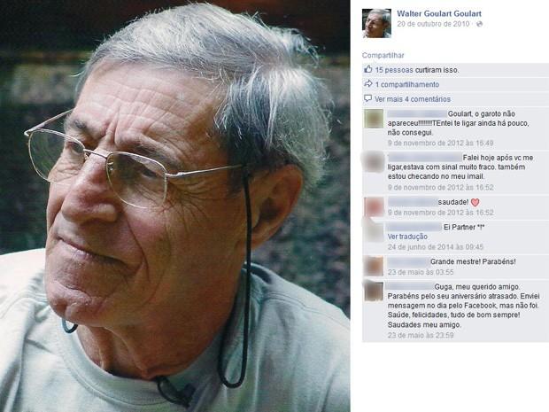 O cineasta Walter Goulart morreu neste domingo (30), no Rio (Foto: Reprodução/Facebook)