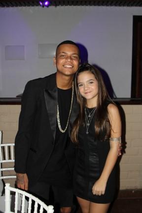 MC Duduzinho e Mel Maia em festa no Rio (Foto: Rogerio Fidalgo/ Ag. News)