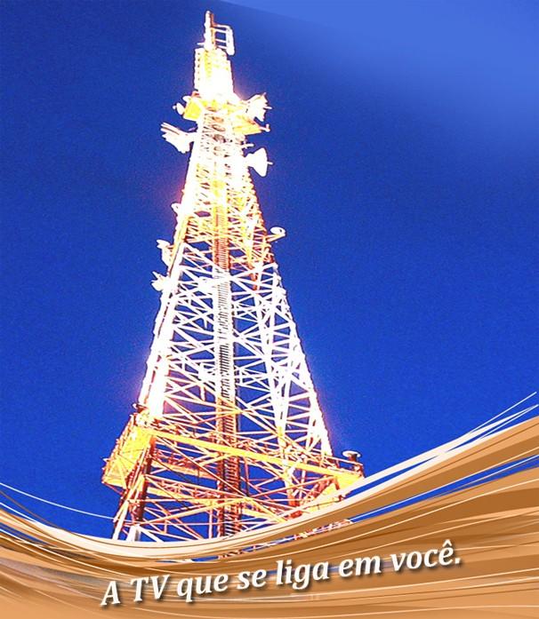 Antena da TV Verdes Mares situada na sede em Fortaleza. (Foto: Arquivo / TV Verdes Mares)