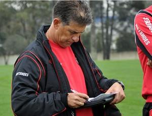 Treino do Atlético-PR com o técnico Ricardo Drubscky (Foto: Gustavo Oliveira/Site oficial do Atlético-PR)