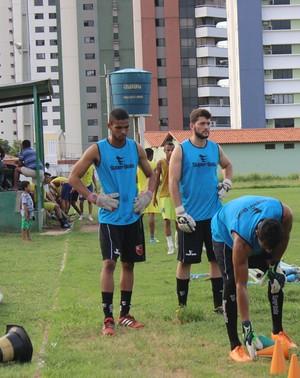 Treino do Flamengo-PI sem Athirson  (Foto: Joana D'arc Cardoso/GloboEsporte.com )