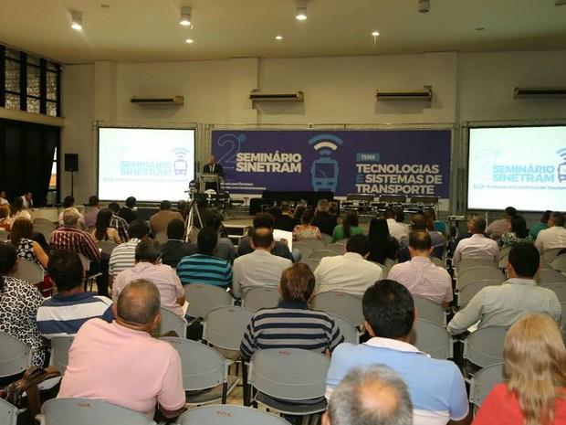 Evento ocorreu no Salão Nobre do Studio 5 (Foto: Divulgação/Sinetram)