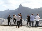 Confira o dia do The Wanted pelo Rio de Janeiro