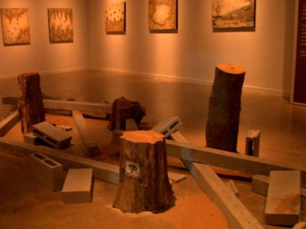 """Exposição """"Fragmentos de Memória"""", da artista Marlene Trouva (Foto: Reprodução/ TVCA)"""