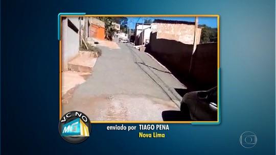 Moradores de Nova Lima fazem 'vaquinha' para melhorar condição de rua