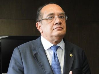 Ministro Gilmar Mendes durante coletiva em Belo Horizonte (Foto: Pedro Triginelli/G1)