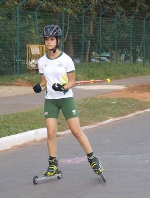 Gabriela Neres, revelação do biatlo de inverno (Foto: Arquivo pessoal)