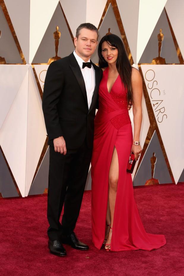 Matt Damon e Luciana Barroso (Foto: Getty Images)