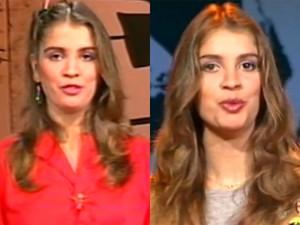 Tássia Camargo à frente do Vídeo Show, nos anos 80 (Foto: Vídeo Show/TV Globo)