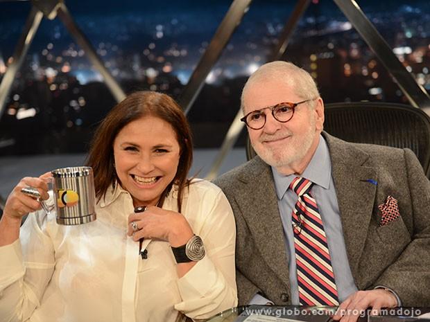 Fafá de Belém participa do Programa do Jô desta quarta-feira (Foto: TV Globo/Programa do Jô)