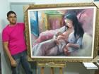 Obras de artista plástico premiado representam beleza humana em MG
