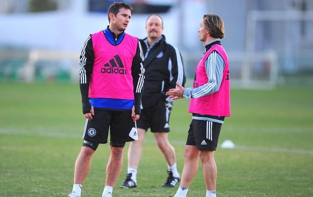 Rafa Marques e Zenden, Treino Chelsea (Foto: Getty Images)