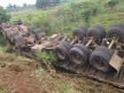 Criança de 9 anos morre após acidente com carreta na BR-364, RO
