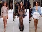 Modelos com seios de fora e modelitos ousados marcam desfile de Alexis Mabille em Paris