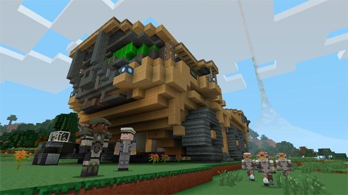 Relembre grandes momentos da franquia Halo com este DLC para Minecraft (Foto: Game Informer)
