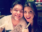 Andressa e Nasser terminam a noite de domingo em um restaurante