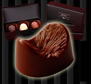 Empresa afirma que chocolate é moldado a partir de ânus de modelo (Foto: Reprodução/Edible Anus)