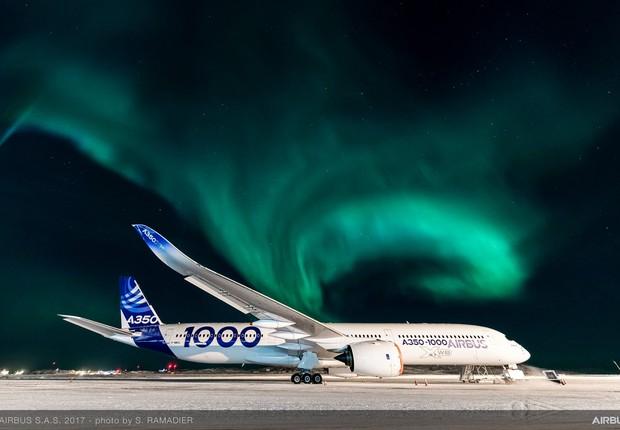 Airbus A350-1000 (Foto: Reprodução/Facebook/Airbus)