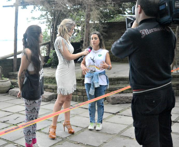 Slackline Mistura com Rodaika Duda Vignocchi e Bianca Andrioli video rodaika na fita (Foto: Giovane Santayana/RBS TV)