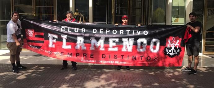 Confira a faixa do Club Deportivo Flamengo, do Chile (Foto: Vitor Hugo/IFlamengo News)