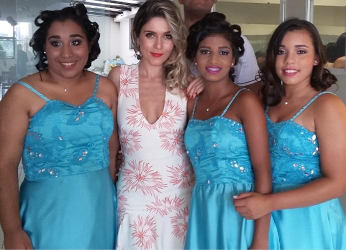 Diana Sabadini acompanhou os bastidores de um baile de debutantes (Foto: Camila Santos)