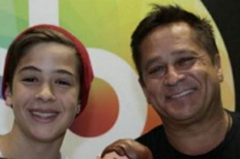 João Guilherme Ávila e o pai, Leonardo (Foto: Reprodução)