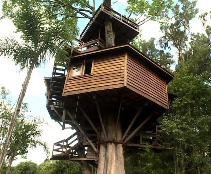 Casa da árvore do Galvão Bueno (Foto: TV Globo)