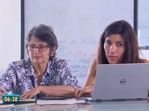 Celina Turchi (direita), pesquisadora da Fiocruz (Foto: Reprodução/TV Globo)