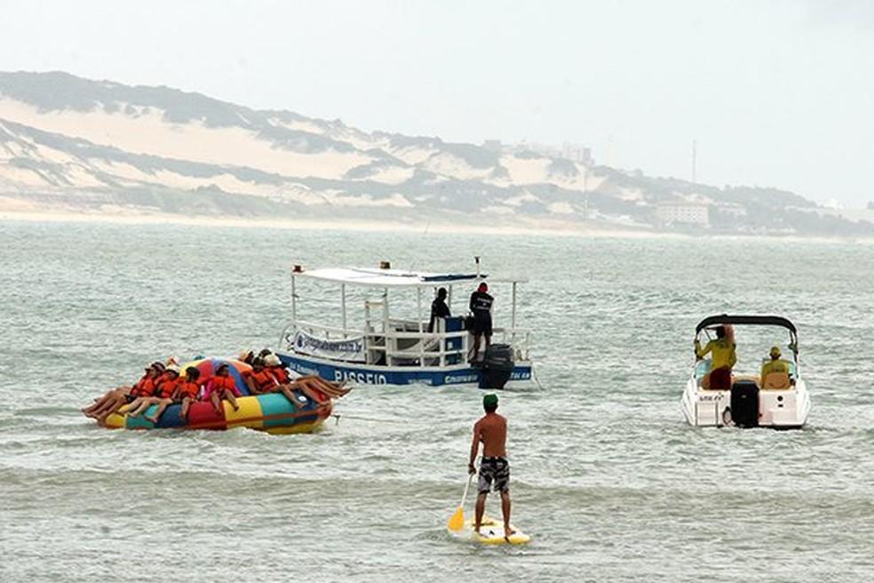 Uso do brinquedo passou por restrições da Marinha (Foto: Alex Régis/Tribuna do Norte)
