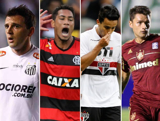 Montagem Santos Flamengo São Paulo Fluminense (Foto: Editoria de Arte)