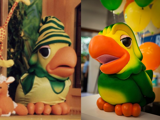 Louro José é camaleão com seus figurinos, mas o papagaio tá conservado (Foto: Divulgação TV Globo)